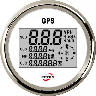 GPS спидометр мультиэкран ECMS (белый/черный)
