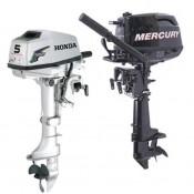 Обзор четырехтактных Mercury и Honda 5 л.с.